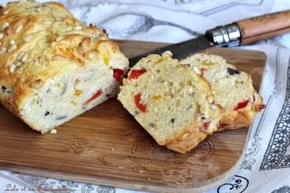 Cake aux poivrons grillés & jambon (4)