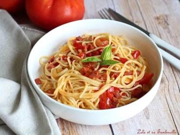 Spaghettis au chorizo & tomates (2)