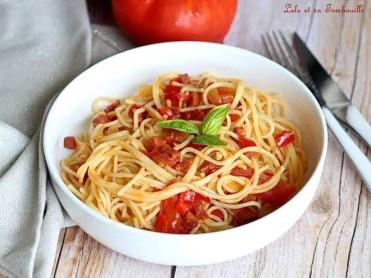 Spaghettis au chorizo & tomates (3)