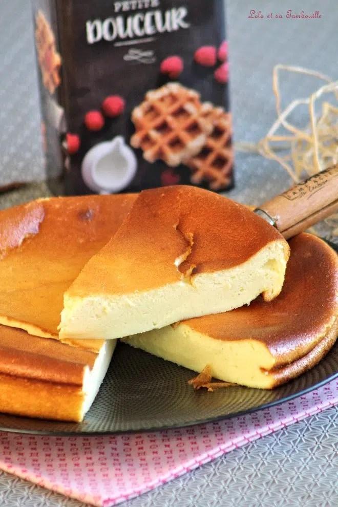 gâteau avec du fromage blanc