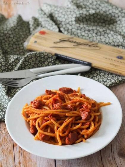 Spaghettis aux poivrons & gésiers (2)