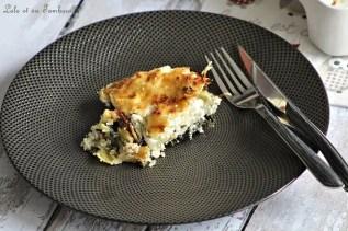 Gratin de ravioles aux épinards & chèvre (1)