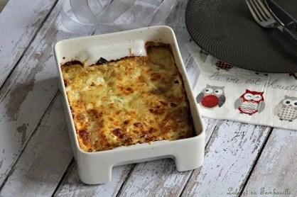 Gratin de ravioles aux épinards & chèvre (2)