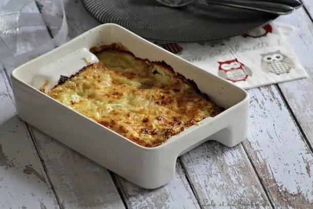 Gratin de ravioles aux épinards & chèvre frais