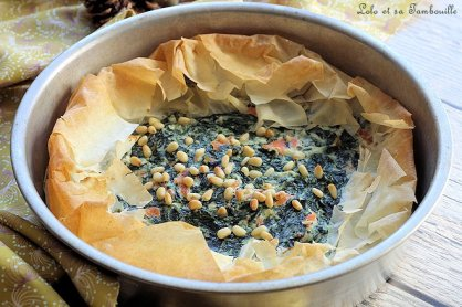 Tarte filo épinards & saumon (5)