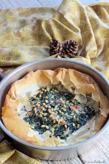 Tarte filo épinards & saumon (6)