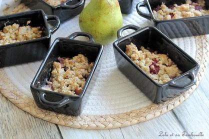 Crumble poires & framboises au chocolat blanc (2)