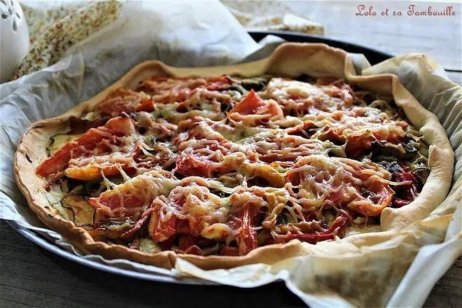 tarte aux légumes grillés facile, blog de cuisine