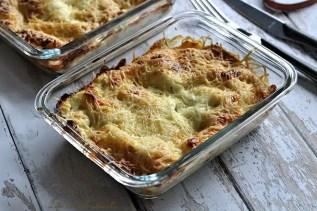 Lasagnes aux épinards, saumon & chèvre (2)