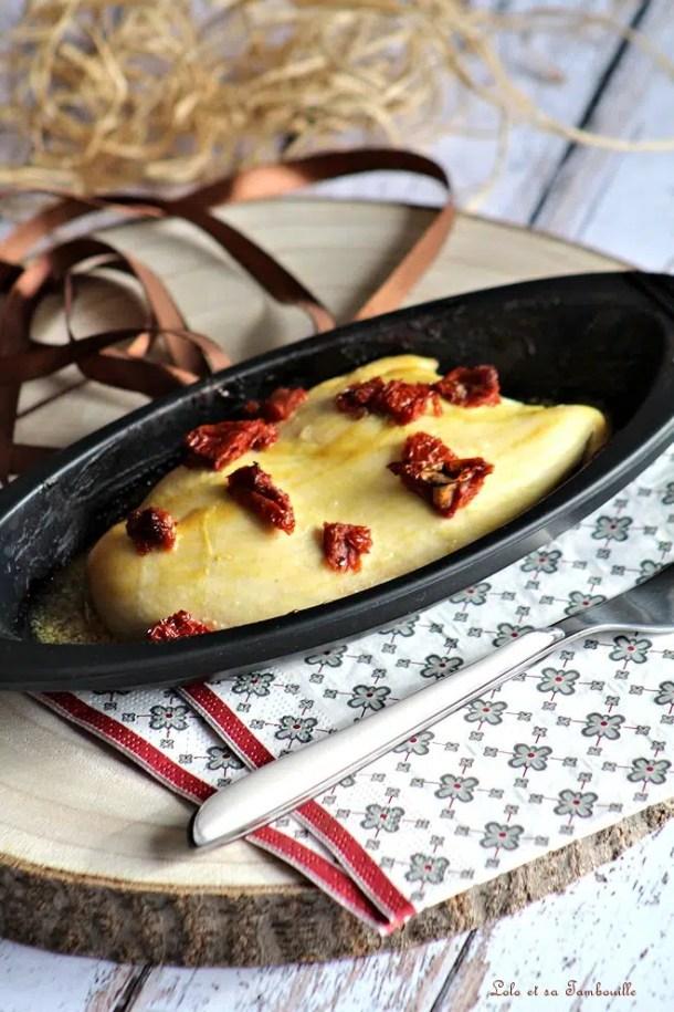 Papillote de poulet à la moutarde au miel & tomates séchées