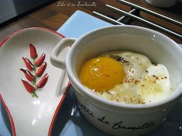 Oeuf cocotte parmesan & figue