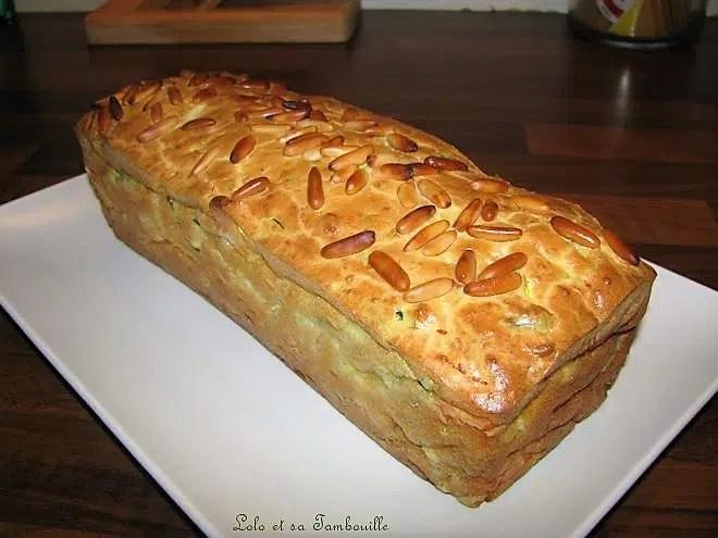 Cake fondant courgette et saumon fumé