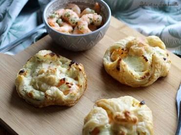 Feuilletés aux crevettes & fromage frais (1)