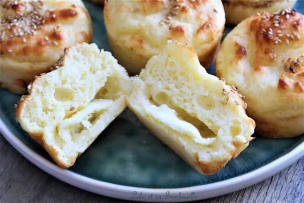 Bouchées au parmesan, mozzarella & graines de sésame