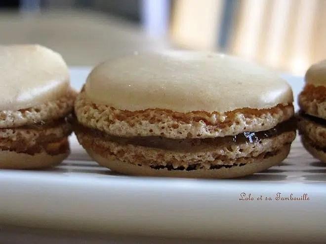 Macarons à la vanille et confiture de lait