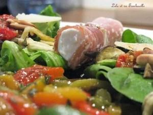 Salade aux légumes grillés & involtinis