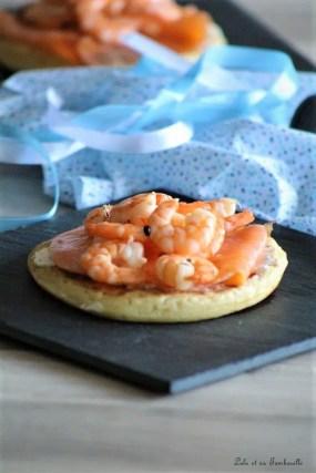 Blinis au saumon fumé & crevettes (5)