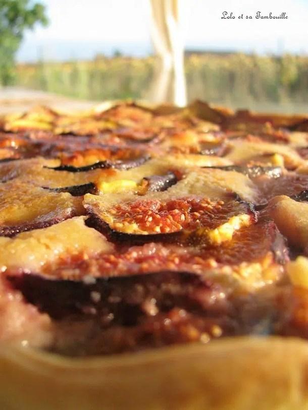 Tarte aux figues & à la crème d'amande