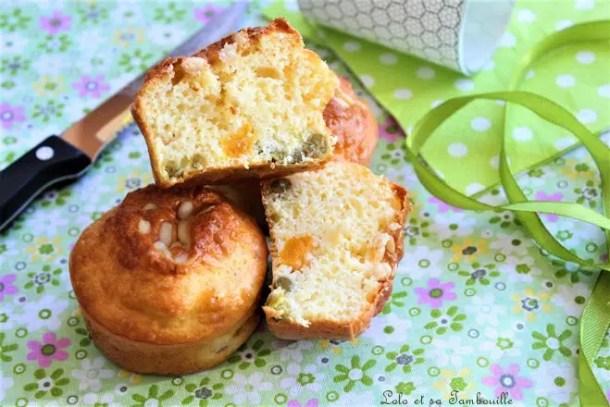 Muffins aux petits pois & carottes