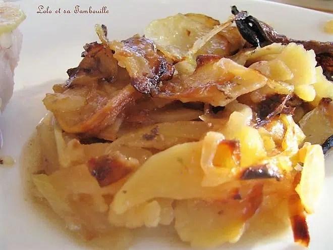 Rouelle de jambon aux pommes de terre confites