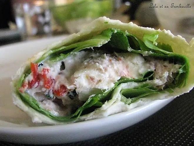 Wraps au thon & piquillos