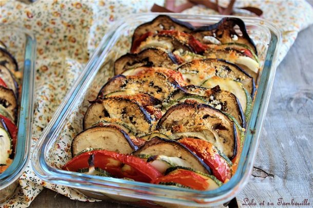 Tian de légumes au parmesan