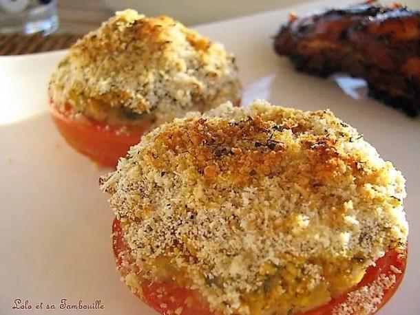Tomates à la provençales aux herbes
