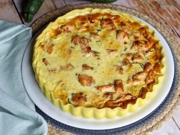 Tarte aux courgettes & saumon (3)