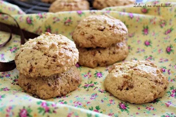Cookies aux pépites de nougatine