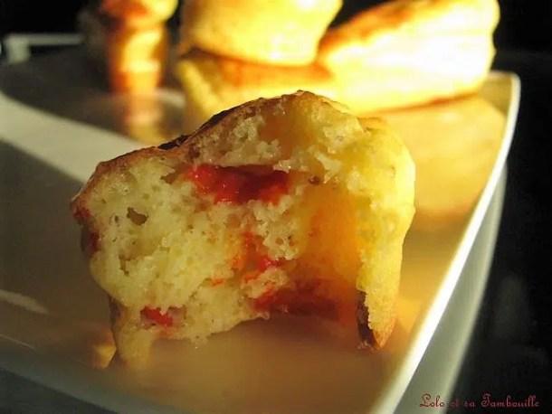 Mini cakes au gruyère, piquillos & moutarde