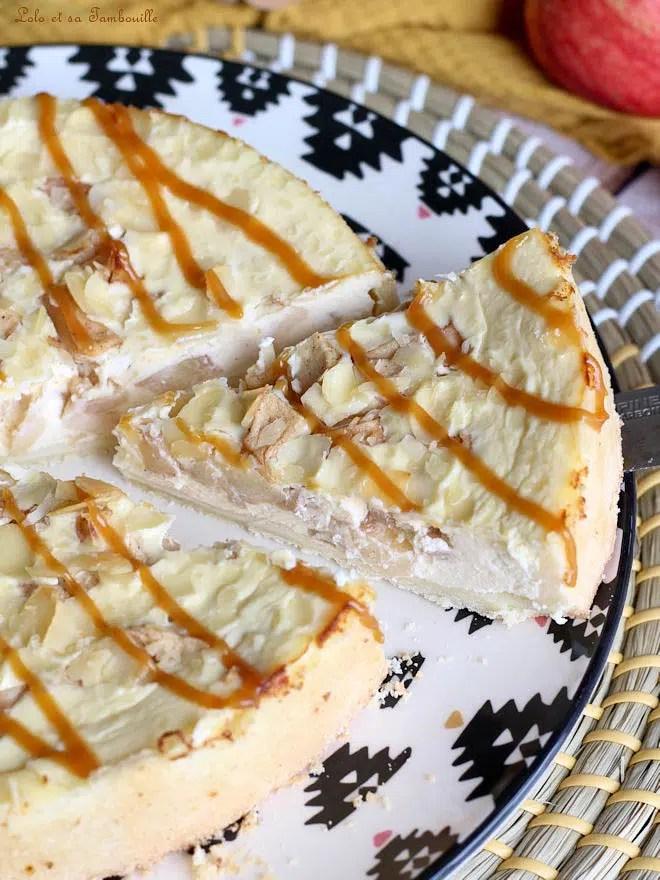 tarte aux pommes avec fromage frais