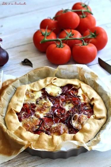 Tarte tomate, poivrons grillés & mozzarella (3)