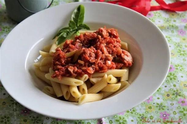 Sauce tomate au thon