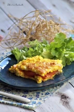Tortilla de saumon fumé & mozzarella (3)