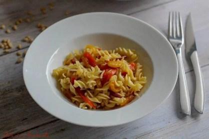 Salade de pâtes aux poivrons grillés (1)