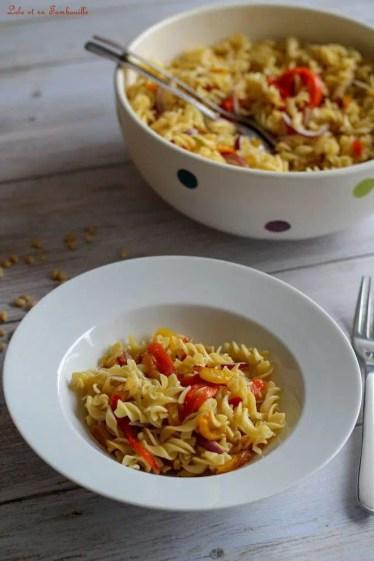 Salade de pâtes aux poivrons grillés (5)