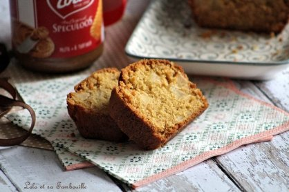 Cake aux pommes & pâte de spéculoos (5)