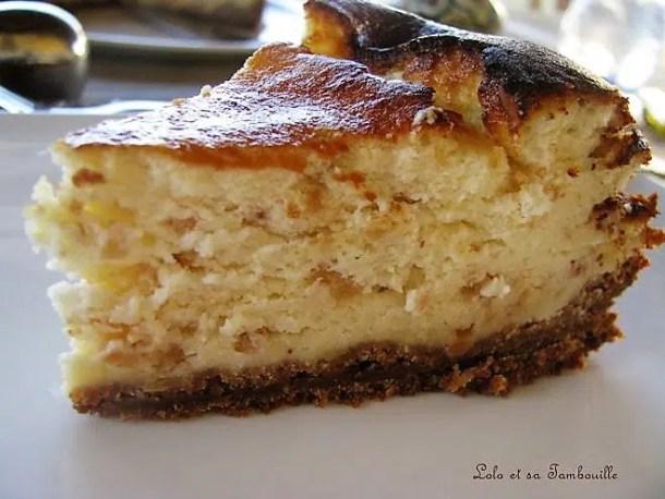 Gâteau au fromage blanc et nougatine {base de spéculoos}