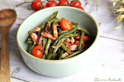 Poêlée haricots verts & lardons (1)