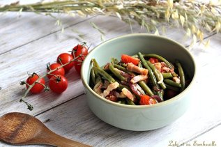 Poêlée haricots verts & lardons (2)