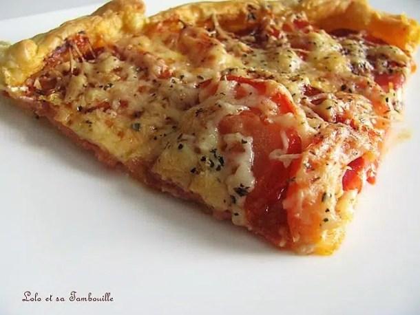 Tarte au chorizo, tomates & chavroux