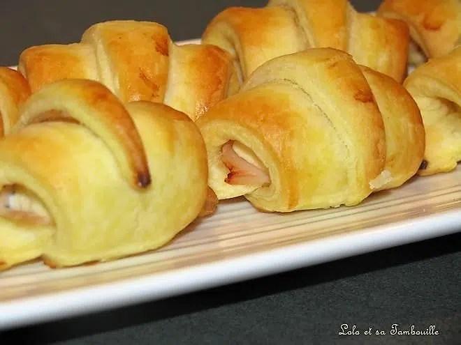 croissants feuilletés au kiri
