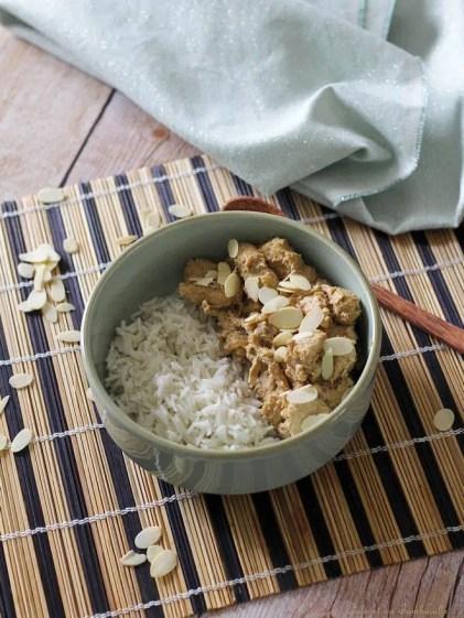Poulet aux amandes & curry (2)