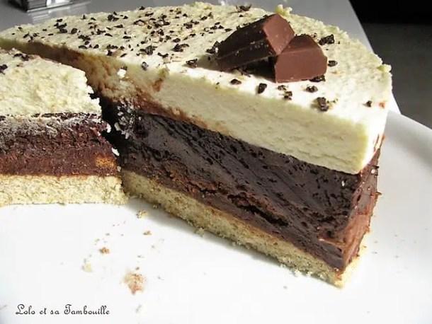 Gâteau aux trois chocolatsGâteau aux trois chocolats
