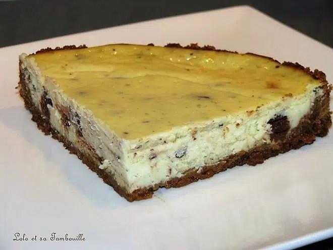 Cheesecake au fromage frais & éclats de chocolat aux spéculoos