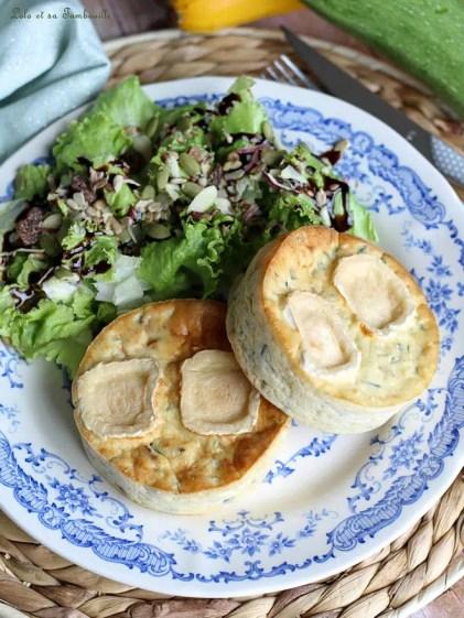 Quichettes sans pâte courgettes & chèvre (5)