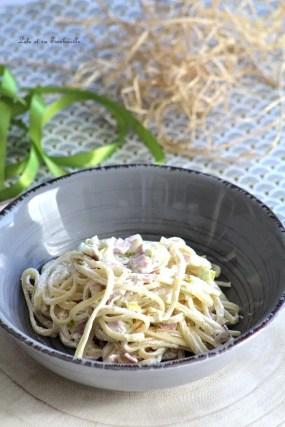 Spaghettis aux poireaux & ricotta (2)