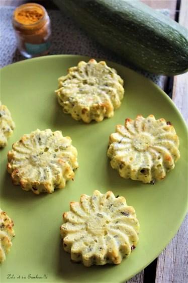 Flans de courgettes & curry (1)