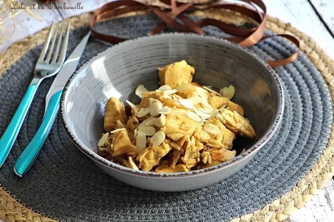 Riz sauté au poulet & au curry