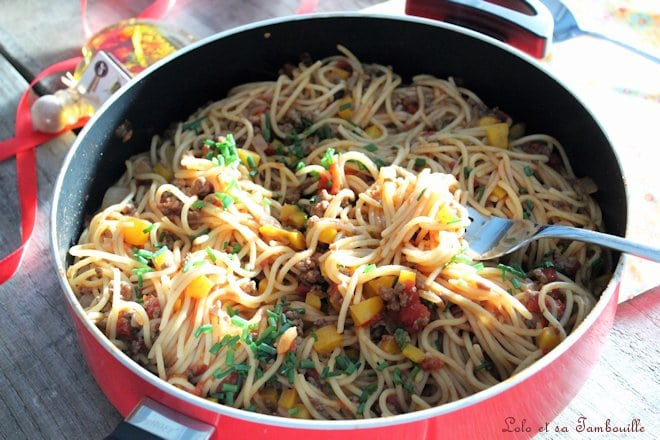 Spaghettis à la bohémienne